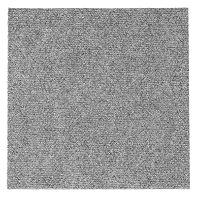 Self Adhesive Carpet Tile, Easy to Peel and Stick Carpet Floor Tile - 12 Tiles/12 sq Ft.