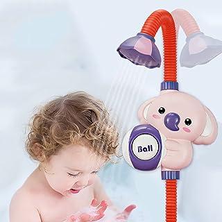 Dusch bad leksak, batteridriven vattenpump elektrisk dusch huvud, flytande sprutning leksaker för småbarn och baby, för sp...