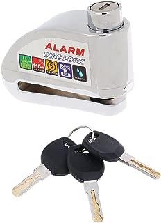 Security Anti Thief Motorcycle Bike Scooter Disc Brake Alarm Lock Silver Hot