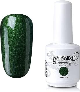 Elite99 Gelpolish Soak-Off Gel Polish Nail Art New Bling Colours Manicure Lacquer 15ml Pearl Dark Green
