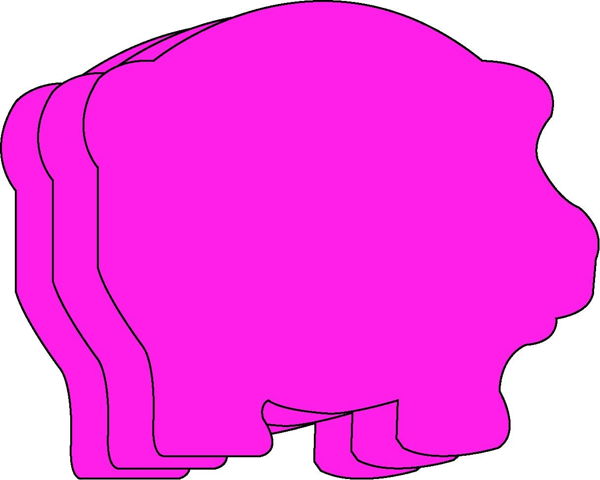 Pig Small Single Color Creative Cut-Outs Las Vegas Mail order Mall