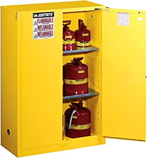 Justrite 894520 Sure-Grip EX Flammable Safety Cabinet, 2 Door, Self Closing, Dimensions (H x W x D): 44 x 43 x 18 inch (1651 x 1092 x 457 mm); 45 gal. (170L)