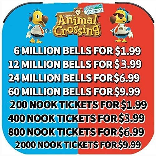 Animal Crossing New Horizons Bells, Nook Miles Tickets, Fish Bait Fast Delivery (200 Nook Tickets)