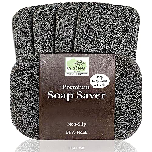 It's Senah [4Pack Keep Soap Clean & Fresh Soap Saver Set | Eco-Friendly, Recyclable Soap Dishes | Flexible & Durable Soap Lift | BPA-Free,...