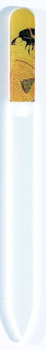 気怠い請求ライター橋本漆芸 ブラジェク製高級爪ヤスリ 特殊プリント加工 ポッピンを吹く女 OPP