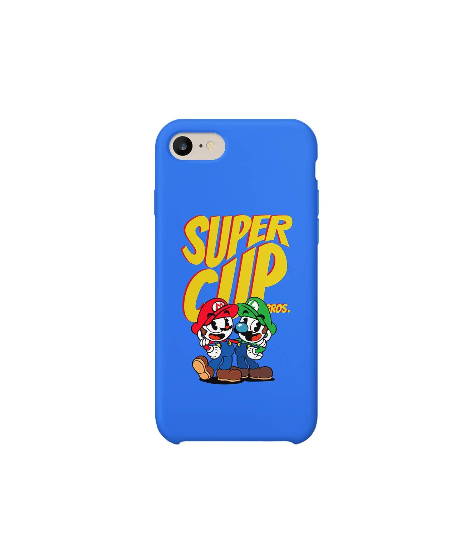GlamourLab Super Cup Bros Super Mario Twins_R2188 Carcasa De Telefono Estuche Protector Case Cover Hard Plastic Compatible with For iPhone 8 Plus Novelty Present Birthday: Amazon.es: Electrónica