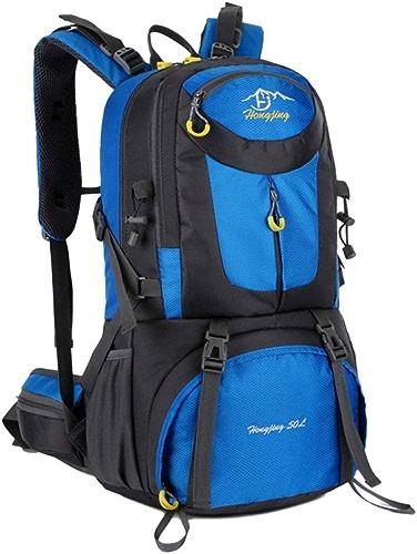 S&RL Sac à Dos Sac à Dos de Voyage Sac à Dos Couverture Rouleau Sac à Dos pour Femmes Mode Camping Mode Randonnée en Plein Air Randonnée Imperméable Lumière Alpinisme Sac Voyage Camping Sac, Bleu
