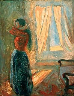 Kunst für Alle Reproduction/Poster: Edvard Munch Femme à sa Toilette - Affiche, Reproduction Artistique de Haute qualité, ...
