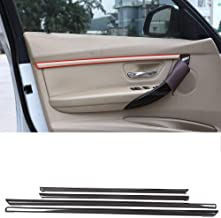 AUTO pro for BMW 3 Series Li (Long wheelbase), 316Li, 320Li, 328Li, 328Lix, 335Li 2015-2017 ABS Car Carbon Fiber Style Interior Door Decoration Strips Trim