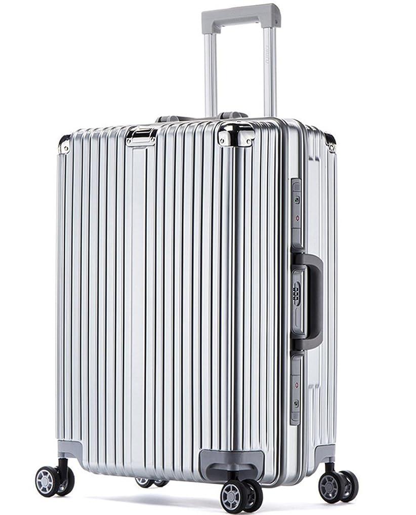 幸運氷軌道Osonmスーツケース 機内持ち込みスーツケース 預け入れスーツケース マット加工 PC 衝突防止アルミニウム合金製コーナープロテクト 耐衝撃 ユニバーサルホイール 静音 キャスター4010