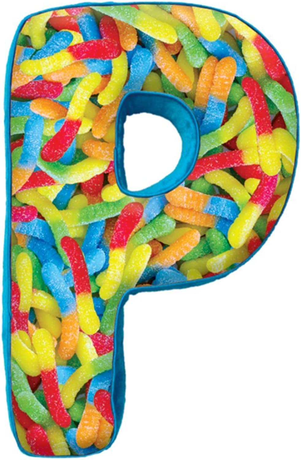 Iscream   Microbead Fleece-Backed Letter P Initial Pillow