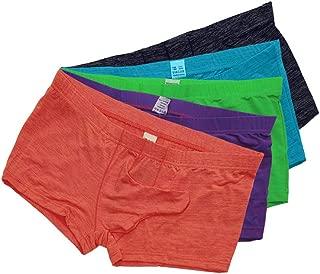 Men's Underwear Smooth Sexy Boxer Briefs with Sheath