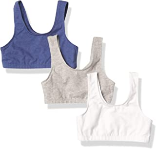 Fruit Of The Loom girls Cotton Stretch Sports Bra, 3-Pack Sports Bra