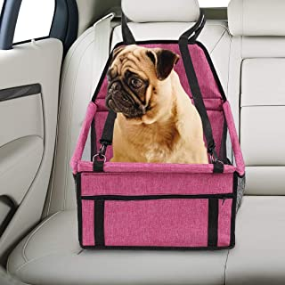 PaWz Pet Car Booster Seat Puppy Cat Dog Auto Carrier Travel Protector Red