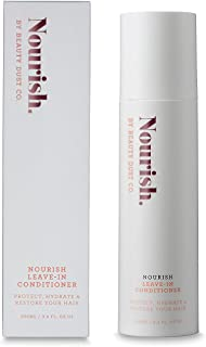 Leave-In Conditioner - NOURISH your Hair - A Daily Moisturizer for your hair - Control Frizz, Heat protecting, UVA/UVB Sun Protection, Hydration, Detangling, Add shine and Strengthen.