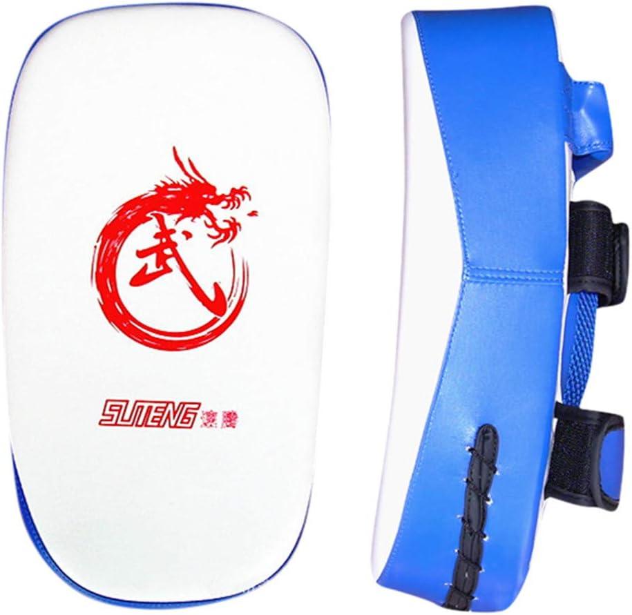 Smoxx Muay Thai Pad for Training | Curved Kickboxing Kicking Strike Shield Pad| Coaching Kick Boxing, MMA, Martial Arts, Karate, Taekwondo | Punching, Foot, Knee and Elbow Blue