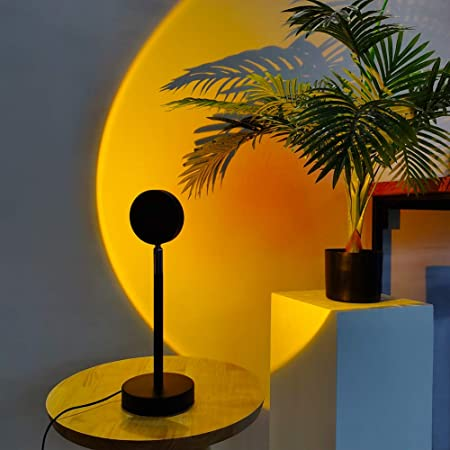 16 Colors Sunset Projection Lamp Romantic Night Light 180° Rainbow LED Light a++
