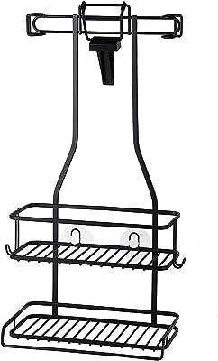 【BLKP】 パール金属 シャワー ラック 2段 風呂 収納 限定 ブラック BLKP 黒 AZ-5078 製品サイズ:(約)幅27.5×奥行14.5×高さ50cm
