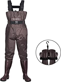 Dark Lightning Fly Fishing Waders for Men and Women with Boots, Mens/Womens High Chest..