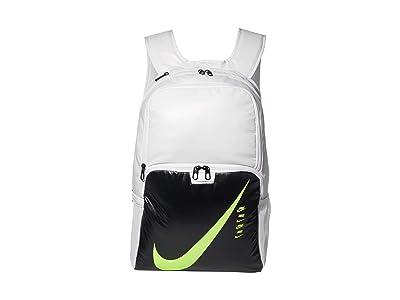 Nike Brasilia XL Backpack 9.0 (Photon Dust/Dark Smoke Grey/Ghost Green) Backpack Bags