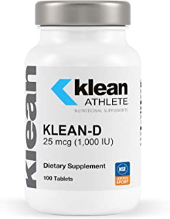 Klean Athlete - Klean-D 25 mcg (1,000 IU) - Targeted Support When The Body Can't Produce Vitamin D Naturall...