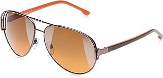 Diesel Aviator Unisex Sunglasses - DL0066 10P - 60-13 -130 mm Orange