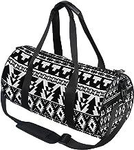 DEZIRO Zwart en wit Tribal patroon Sport Duffle Bag Drum Sporttas
