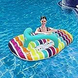 YLXD Hamaca de Agua Flotante Inflable,Chanclas De Rayas Inflables Anillo De Natación Silla Tumbona de Flotador para Piscina y sofá Cama de Aire para Adultos y niños