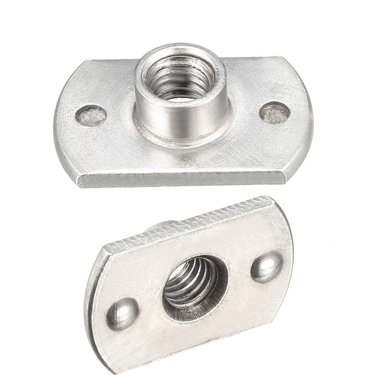 uxcell M6 Carbon Steel Slab Base T-Shaped 2 Projection Weld Nuts Pack of 10