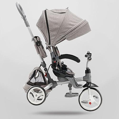 Triciclo de los Niños, bicicleta del bebé Cochecito de la carretilla del bebé de la bici de los Niños 1170  520  1045m m A++ (Color   gris)