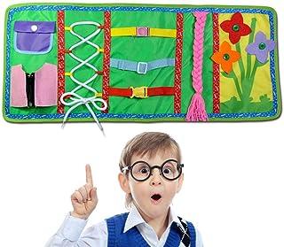 comprar comparacion FOONEE Montessori Aprender tableros de vestir, aprendizaje temprano libro de habilidades básicas de vida, 6 en uno aprende...