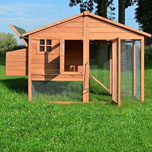 """ZooPrimus Hühner-Stall Nr 14 Geflügel-Voliere """"LUXUS-HÜHNERHAUS"""" Enten-Haus für Außenbereich (Geeignet für Kleintiere: Hühner, Geflügel, Vögel, Enten usw.) - 2"""