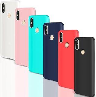 Leathlux [6 Packs Funda para Xiaomi Mi A2, 6 Unidades Carcasas Juntas Ultra Fina Silicona TPU Flexible Colores Cover para Xiaomi Mi A2-5.99