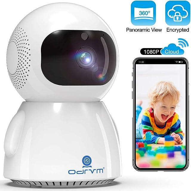 Cámara IP WiFi 1080PCloud Cámara de vigilancia Doméstica InalámbricaMonitor de Bebé con PTZ Cámara para Mascotas con Audio BidireccionalSeguimiento AutomáticoVisión Nocturna Mejorada