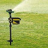 TBVECHI Sprinkler Solar Powered Motion Activated Scarecrow Motion Activated Sprinkler Water Spray