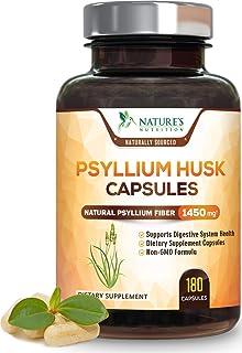 Psyllium Husk Capsules 1450mg - Premium Natural Soluble Fiber Supplement - Made in USA - Psyllium Fiber Helps Support Dige...
