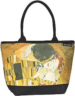 VON LILIENFELD Handtasche Damen Kunst Motiv Gustav Klimt Der Kuss Shopper Maße L42 x H30 x T15 cm Strandtasche Henkeltasch...