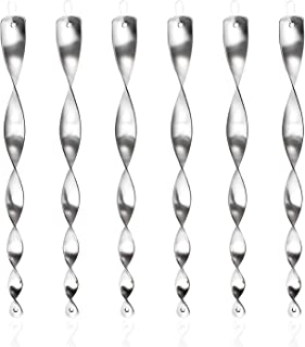 comprar comparacion Juego de 6 Espiral de Viento Plateado Reflectante para Control de Aves, 30 cm Varillas Reflectantes Repelentes de Pájaro...