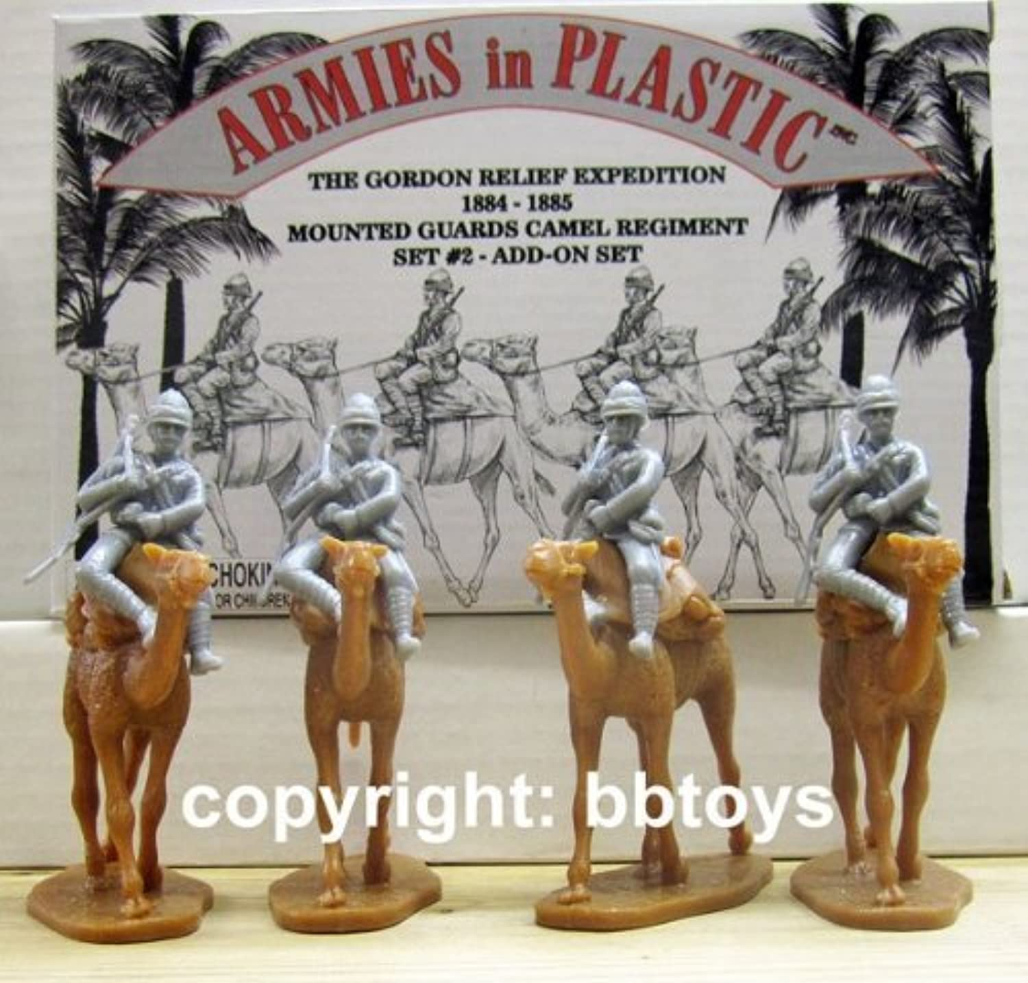 Egypt and Sudan - Gordon Relief Expedition Camel Corps Mounted Guard Set  2  8 piece set of 54mm Plastic Army Men Figures - 1 32 Scale by Armies in Plastic