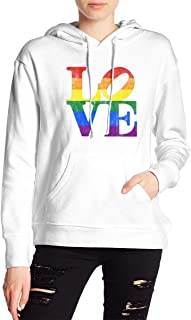 VJJ AIDEAR Love Equality Women's Sweater Printed Hoodied Long Sleeve Coat