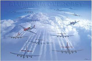 Aluminum Overcast B-17 Bomber Plane Travel Art Print Poster by Adam Burch (12