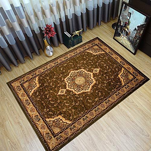 Tapiso YESEMEK Teppich Klassisch Kurzflor Orientalisch Teppiche Floral Ziegler Ornament Muster Bordüre in Grün Beige Barock Design Orientteppich Wohnzimmer ÖKOTEX 160 x 220 cm