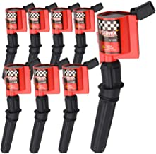 High Performance Ignition Coil 8 Pack For Ford F-150 F-250 F-350 4.6L 5.4L V8 CROWN VICTORIA EXPEDITION MUSTANG LINCOLN MERCURY Upgrade Compatible with DG508 DG457 DG472 DG491 (RED)