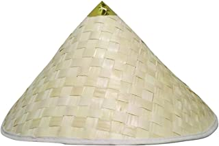 Chinese Conical Cone Straw Japanese Sun Shade Asian Adult Costume Hat Beiges, Browns
