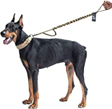 OneTigris Tactical Dog Training Bungee Leash with Control Handle Quick Release Nylon Leads Rope - 2019 Advanced Version