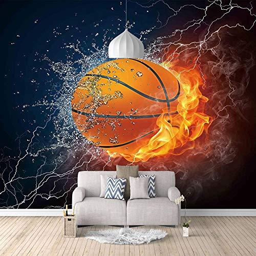 SFALHX Mural Papel Pintado baloncesto Fondo habitación Pintura de la Pared Papel Tapiz decoración de la Sala de estar /400X280CM