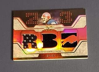 Football NFL 2008 Topps Triple Threads Relic Red #TTR96 Marshawn Lynch NM Near Mint Jersey 7/17 Bills