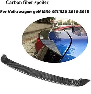 JC SPORTLINE fits Volkswagen VW Golf 6 GTI & R Hatchback 2010-2013 Rear Roof Window Spoiler Wing (Carbon Fiber)