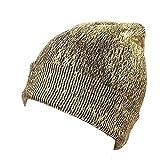 KOLY Cappello da Donna Warm Ear Protection Crochet Cappellini Scintillanti Invernali a Maglia Sciarpa Cappello Caldo Donna/Ragazzo/Ragazza Inverno/Autunno Sci all'aperto