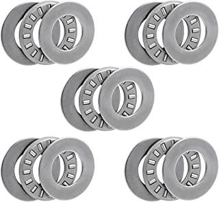 uxcell Tc815 Needle Roller Thrust Bearings with Washers 1/2-inch Bore 15/16-inch Od 5/64-inch Width 19000rpm Limiting Speed 5pcs